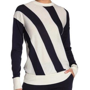 NEW! Equipment Cetine Silk Blend Striped Sweater